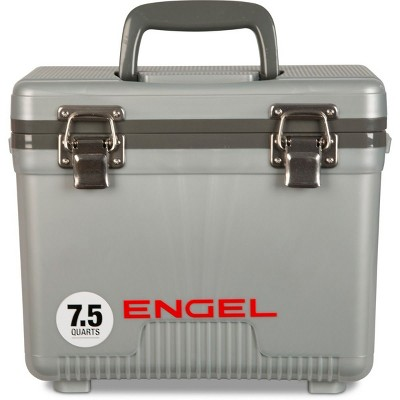 Engel 7.5-Quart 8-Can EVA Gasket Seal Ice and DryBox Cooler with Carry Handles and Shoulder Strap, White