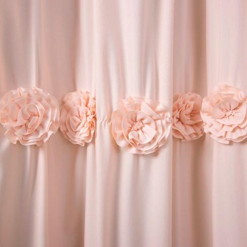 Lush Dcor Darla Horiz Texture Shower Curtain Target