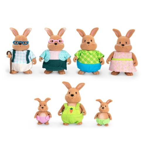 Li'l Woodzeez Miniature Animal Figurine Set - Cottonball Rabbit Family - image 1 of 3