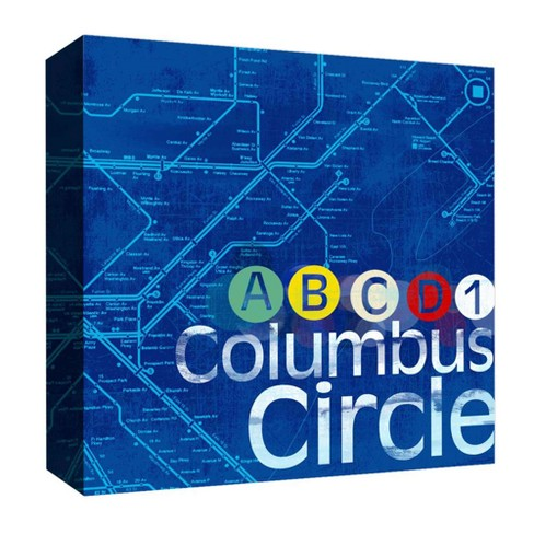 "Columbus Circle Decorative Canvas Wall Art 16""x16"" - PTM Images - image 1 of 1"