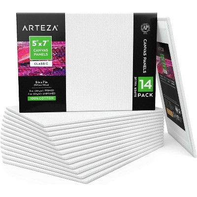"Arteza Canvas Panels, 5"" x 7"", 14 Pack"
