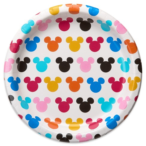 """Disney Mickey Mouse 10.2"""" 10ct Dinner Paper Plate Multicolor - image 1 of 2"""
