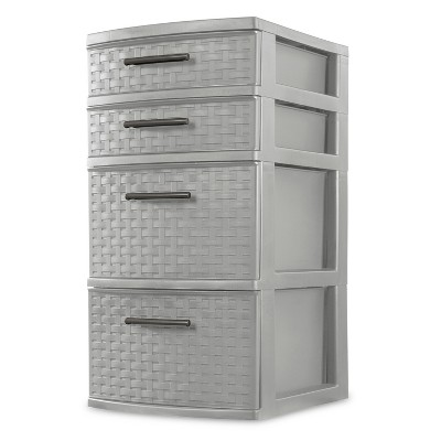 4 Drawer Storage Tower Gray - Room Essentials™