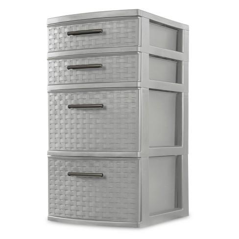 4 Drawer Storage Tower Gray - Room Essentials™ - image 1 of 4