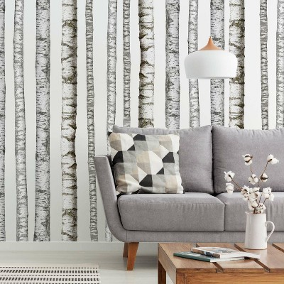 Realistic Birch Trees Peel and Stick Giant Wall Decal - RoomMates
