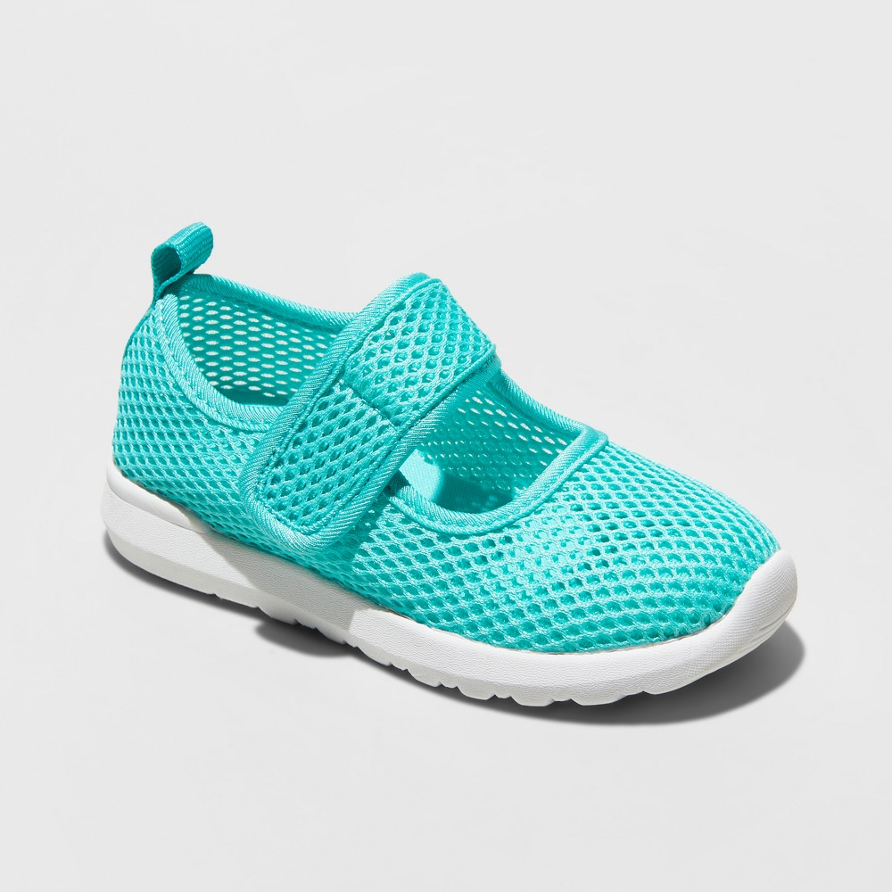 Toddler Girls' Willow Play Mesh Mary Jane Shoes - Cat & Jack Mint 6, Blue