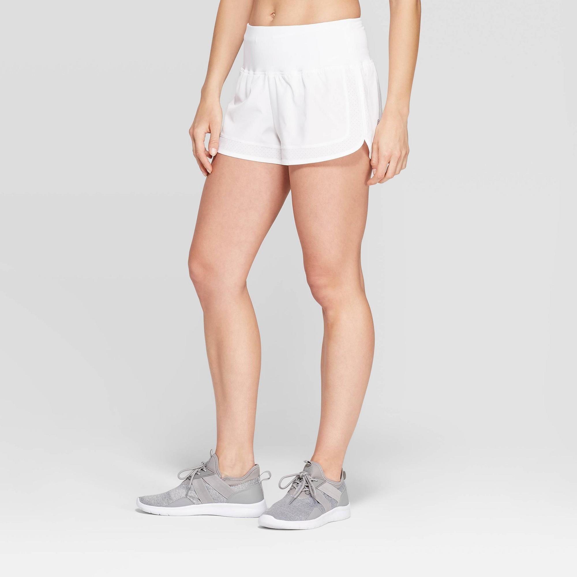 Women's Running High-Waisted Premium Shorts 2.5 - C9 Champion White XS