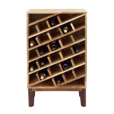 Modern Wood Wine Rack Brown - Olivia & May