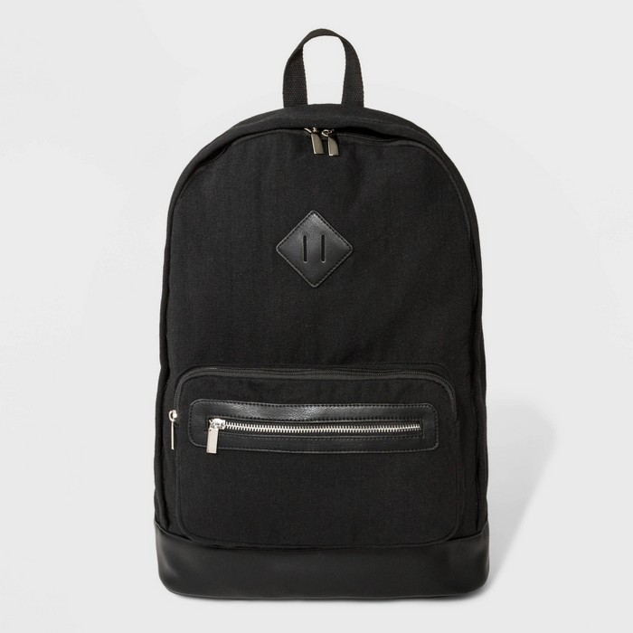 Canvas Mini Backpack - Wild Fable™ Black - image 1 of 5