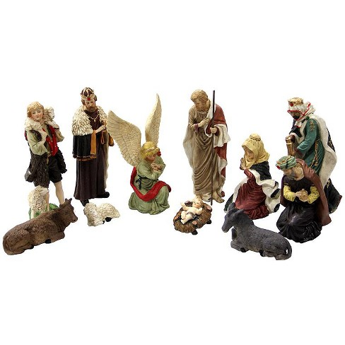 "LB International 11-Piece Hand Painted Religious Christmas Nativity Figurine Set 12"" - image 1 of 1"