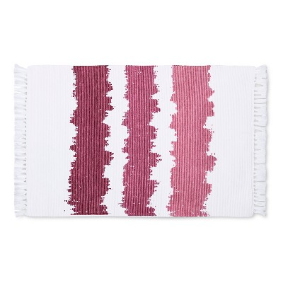 Ribbed Ombré Design Placemats Rouge (Set of 4)