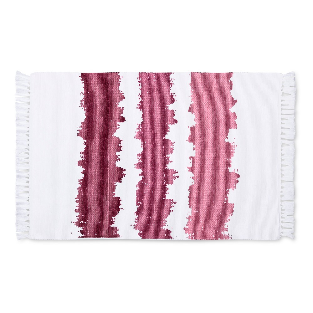 Ribbed Ombr 233 Design Placemats Rouge Set Of 4