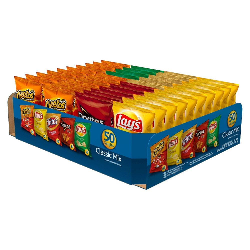 Frito-Lay Classic Mix Snack Size Variety Pack 50 ct