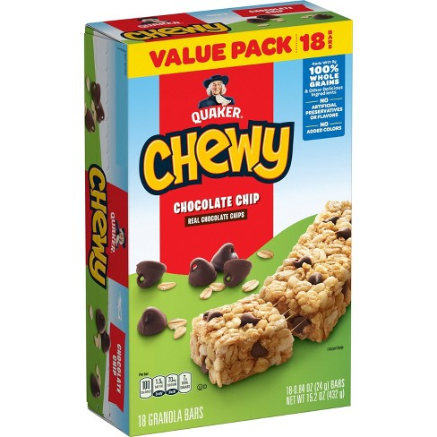 Quaker Chewy Chocolate Chip Granola Bars - 18ct/15.2OZ - image 1 of 4