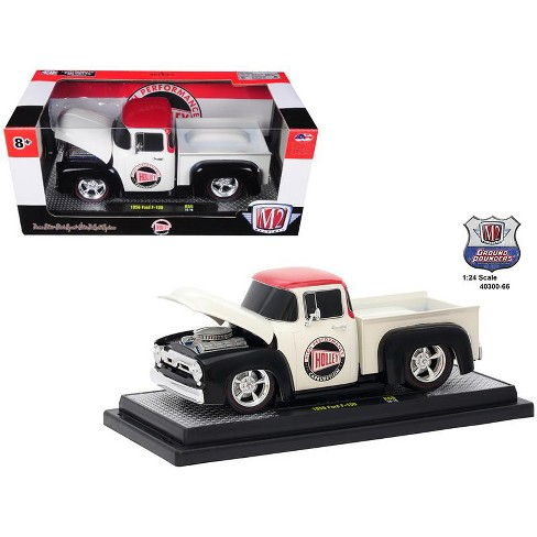 """1956 Ford F-100 Pickup Truck """"Holley"""" Limited Edition to 5,800 pieces Worldwide 1/24 Diecast Model Car by M2 Machines - image 1 of 1"""
