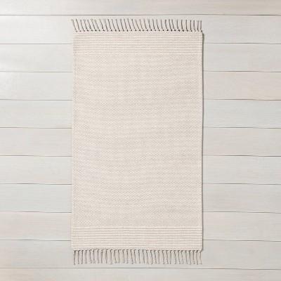 2' x 3' Textured Border Stripe Area Rug Twilight Taupe - Hearth & Hand™ with Magnolia
