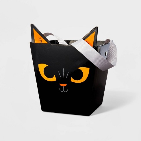 Halloween Cat Small Square Paper Bucket - Hyde & EEK! Boutique™ - image 1 of 1