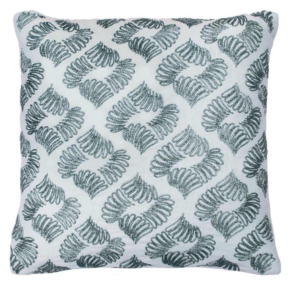 Image of Arlee Beaded Throw Pillow Blue - Beautyrest
