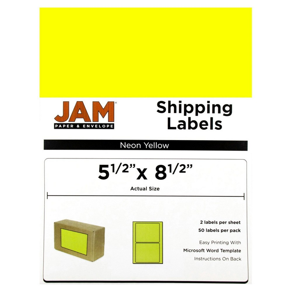 Jam Paper Shipping Labels 5.5