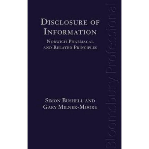 Disclosure of Information: Norwich Pharmacal and Related Principles - (Hardcover) - image 1 of 1