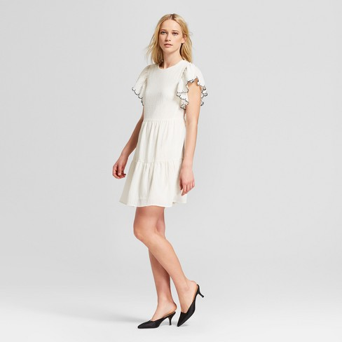 Women's Short Sleeve Tiered Mini Dress - Who What Wear™ - image 1 of 3