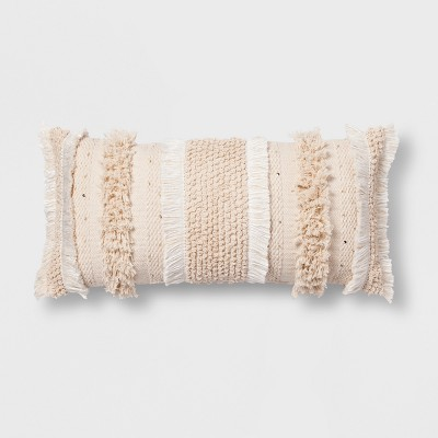 Tufted Oversize Lumbar Throw Pillow Cream - Opalhouse™
