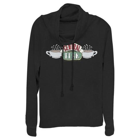 Friends Juniors' Classic Central Perk Logo Cowl Neck Sweatshirt - image 1 of 1