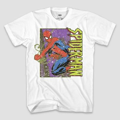 Men's Marvel Spider-Man Short Sleeve Graphic T-Shirt - White