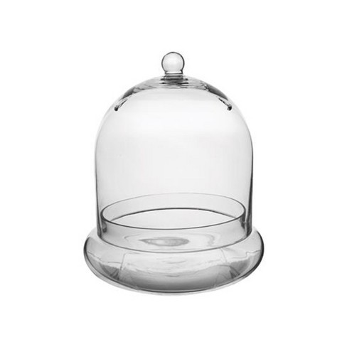 Syndicate Home Gardens Indoor or Patio Round Glass Terrarium Cloche with Built In Air Holes, 10 x 11.38 Inches - image 1 of 4