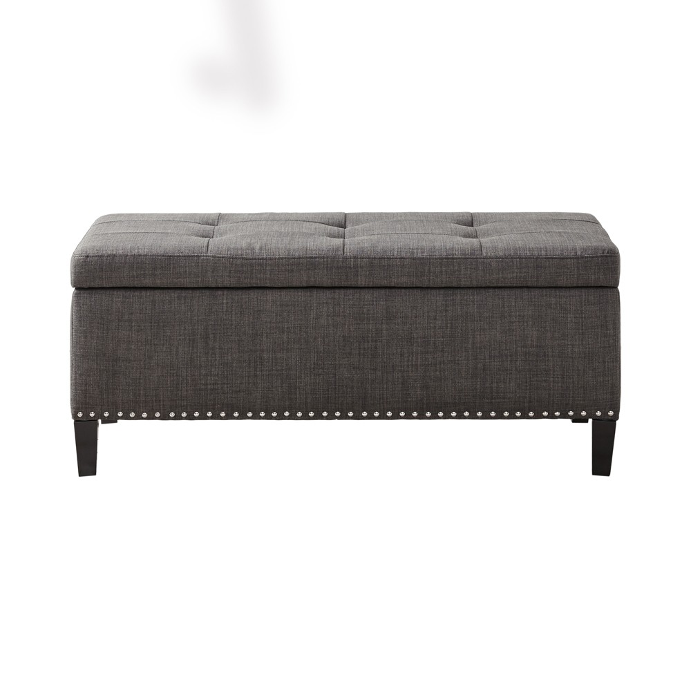 Tahlia Tufted Top Storage Bench - Charcoal (Grey)