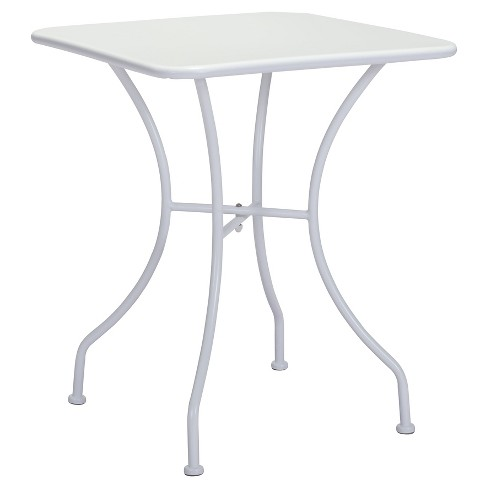 "Square Weather Resistant Steel 24"" Dining Table - White - ZM Home - image 1 of 3"