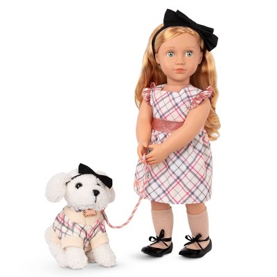 """Our Generation Callista with Dog Plush Styles 18"""" Matching Doll & Pet Set"""