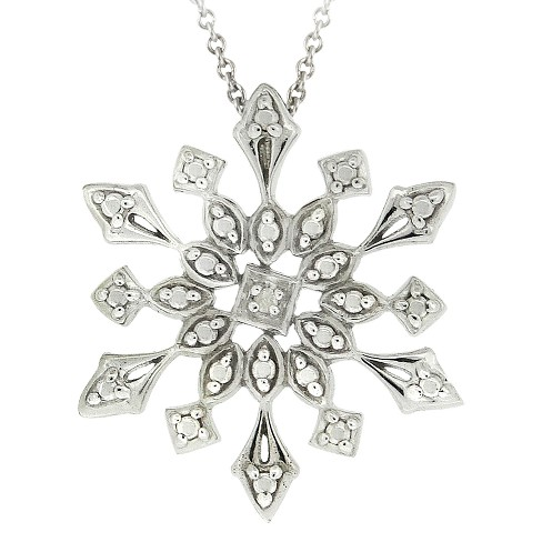 Sterling Silver Diamond Accent Snowflake Pendant - image 1 of 1
