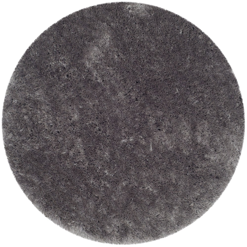 7' Solid Tufted Round Area Rug Gray - Safavieh