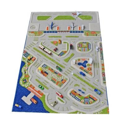 IVI 3D Play Carpets 121MD034-100150 59 x 39-inch Mini City Educational Toddler Mat Rug for Bedroom, Kids Den, or Playroom, Medium