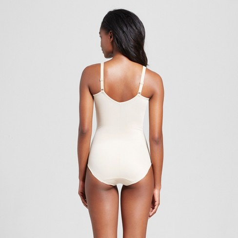 411960b61ad SlimShaper By Miracle Brands® Women s Tailored Soft Cup Body Briefer - Nude  M   Target