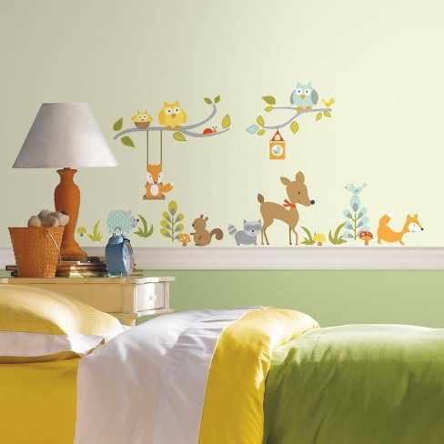 Woodland Fox and Friends Peel Stick Wall Decal - RoomMates - image 1 of 4