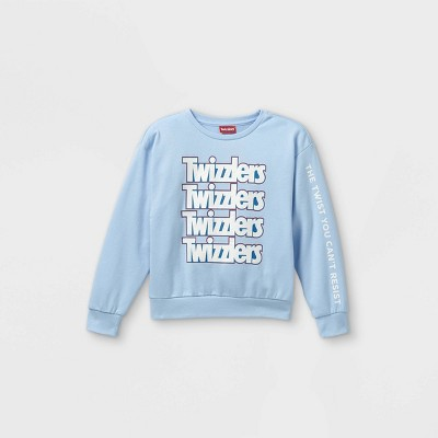 Girls' Hershey's Twizzlers Cropped Pullover Sweater - Blue