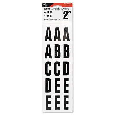 """Cosco Letters Numbers & Symbols Adhesive 2"""" Black 098131"""