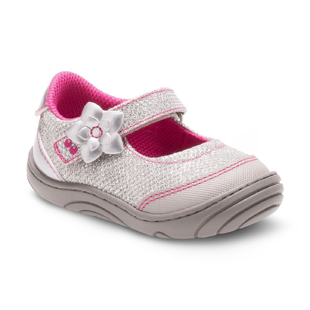 Toddler Girls' Surprize by Stride Rite Pauline Mary Jane Shoes - Silver 3, Gray Silver
