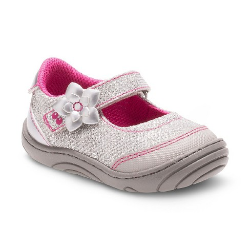 Toddler Girls' Surprize by Stride Rite® Pauline Mary Jane Shoes - Silver - image 1 of 4