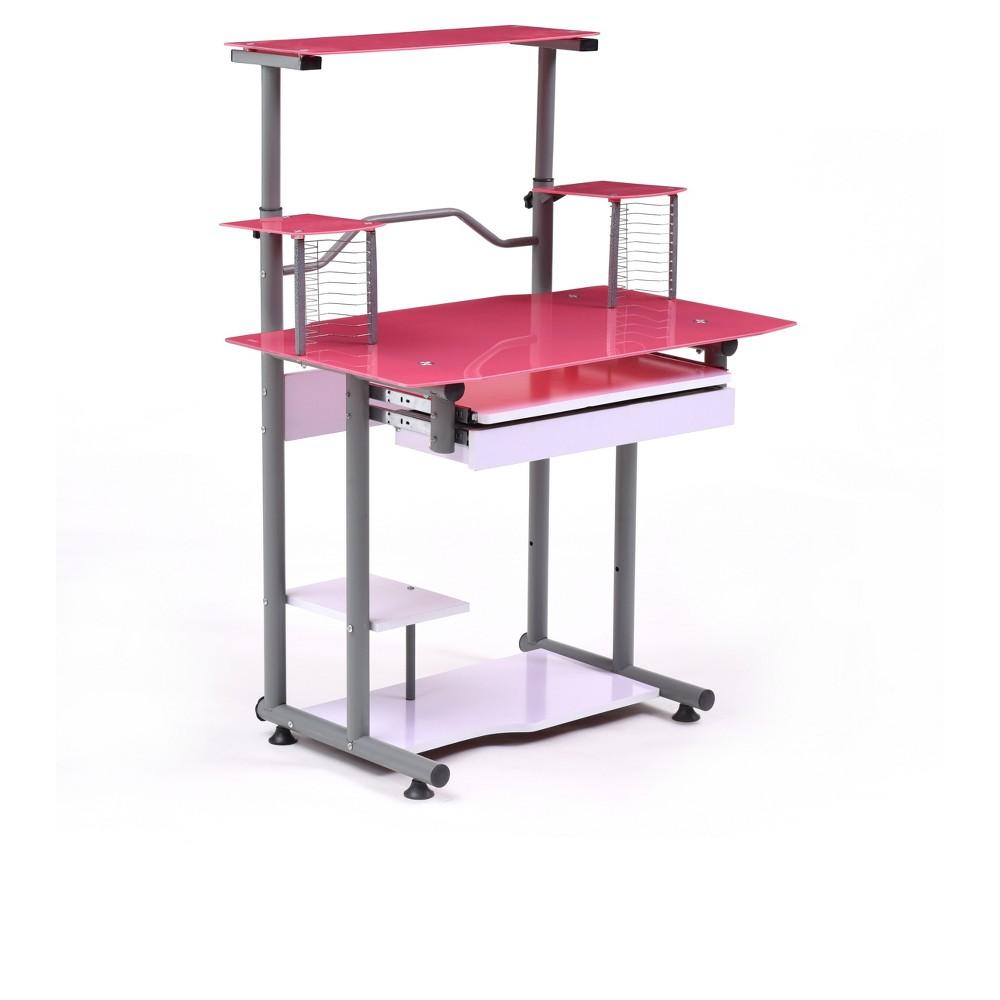 Image of Computer Desk Pink - Hodedah Import