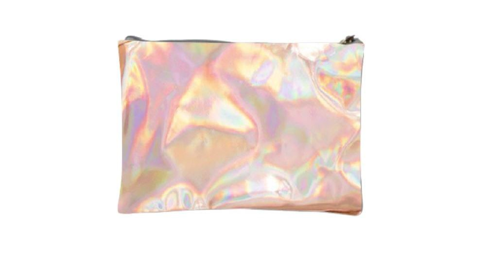 Image of Adore Holographic Metallic Rose Gold Bag, Multi-Colored
