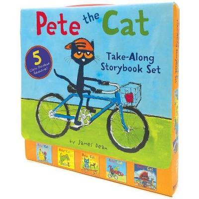 Pete The Cat Take Along Storybook Set : Construction Destruction / Cavecat Pete / Robo Pete / Go Pete by Along Storybook Set : Construction Destruction / Cavecat Pete / Robo