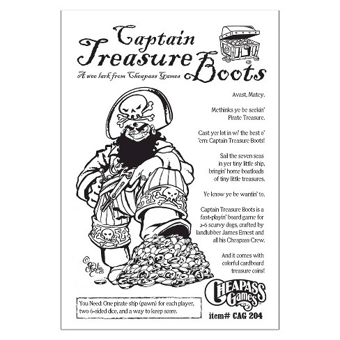 Captain Treasure Boots 2nd Edition Board Game - image 1 of 1