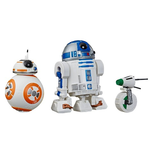 Star Wars Galaxy of Adventures R2-D2, BB-8, D-O 3-pack Toy Droid Figures image number null