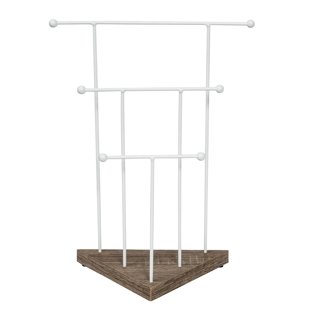 Honey-Can-Do Geo 3-Tier Jewelry Stand Brown Honey-Can-Do Geo 3-Tier Jewelry Stand Brown Gender: Unisex. Age Group: Adult.