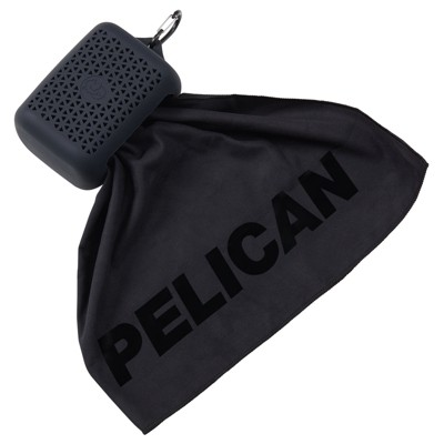 Pelican Outdoor - Multi-Use Towel with Carry Case - Ultra Absorbent Microfiber - Stealth Black
