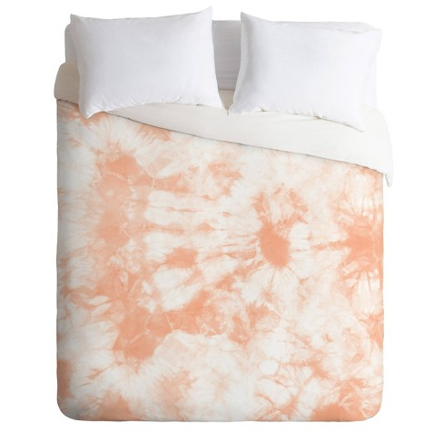 Twin/Twin XL Amy Sia Tie Dye Comforter Set Peach   Deny Designs