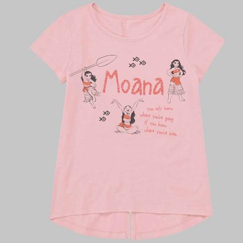 Toddler Girls' Moana Short Sleeve T-Shirt - Coral - image 1 of 1